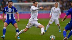 Bale, durante un partido. (AFP)