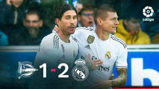 El Real Madrid se impuso 1-2 al Alavés.
