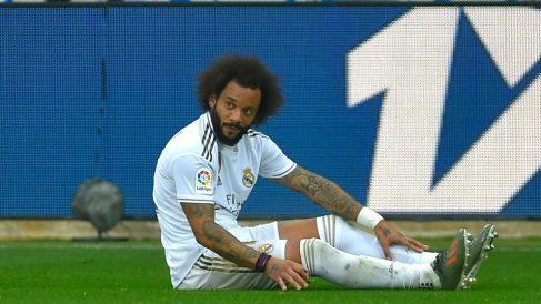 Marcelo, durante un partido. (AFP)