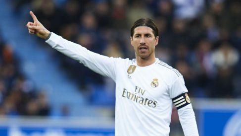 Sergio Ramos, durante el Alavés-Real Madrid (Getty).