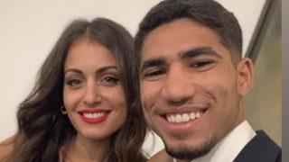 Achraf junto a su futura esposa y madre de su primer hijo.