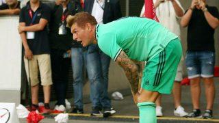 Kroos, durante un partido. (AFP)