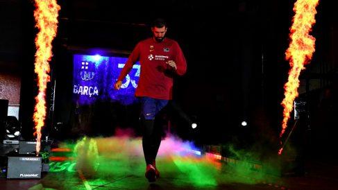 Nikola Mirotic, antes del Clásico de Supercopa. (ACB)