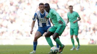 Mendy fue expulsado contra el Espanyol. (Getty)