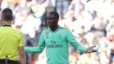 Mendy fue expulsado ante el Espanyol (Getty).