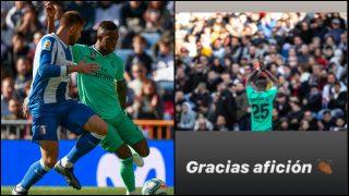 Vinicius publicó un mensaje tras el partido ante el Espanyol.