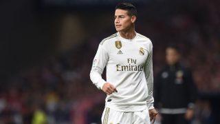 James Rodríguez, en un partido del Real Madrid. (Getty)