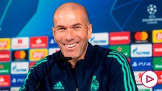 Zinedine Zidane, en la rueda de prensa.(EFE)