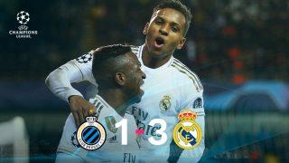 El Real Madrid se impuso 1-3 al Brujas.