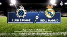 Brujas – Real Madrid: horario y dónde ver en directo por televisión