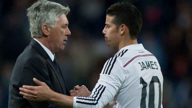 El Arsenal irá a por James Rodríguez… si fichan a Ancelotti