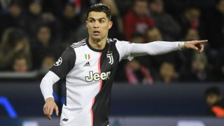Cristiano Ronaldo durante un partido de Champions con la Juventus. (AFP)