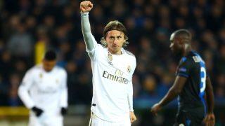 Modric, tras marcar ante el Brujas en la Champions League (Getty)