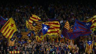 Estaladas en el Camp Nou. (AFP)