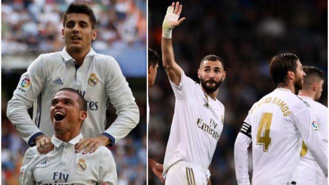 Aquel Real Madrid y el de ahora, celebrando un gol.