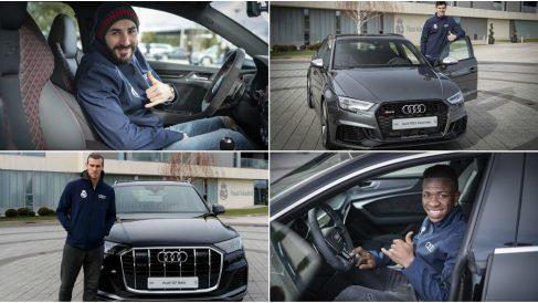La plantilla del Real Madrid ya tiene sus nuevos Audi.