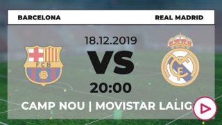 Liga Santander: Barcelona – Real Madrid | Horario del partido de fútbol de Liga Santander.