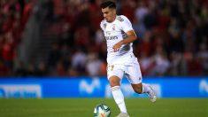 Brahim Díaz, durante un partido con el Real Madrid. (Getty)