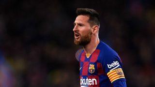 Leo Messi, durante un partido en el Camp Nou (Getty).