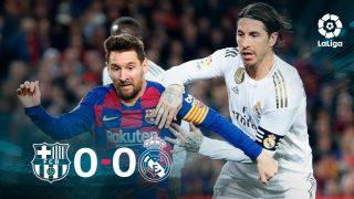Barcelona y Real Madrid empataron a cero en el Clásico.