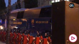 Así fue la llegada de Madrid y Barcelona al Camp Nou.