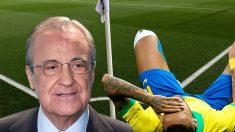 El Real Madrid descartó a Neymar por su lesión en el tobillo.