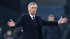 Carlo Ancelotti, en un partido con el Nápoles. (Getty)