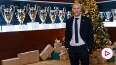 Zinedine Zidane, en el mensaje navideño del Real Madrid.