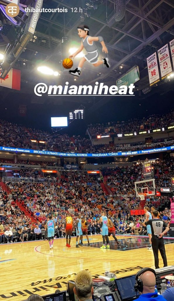Courtois disfrutó de un partido de los Miami Heat.