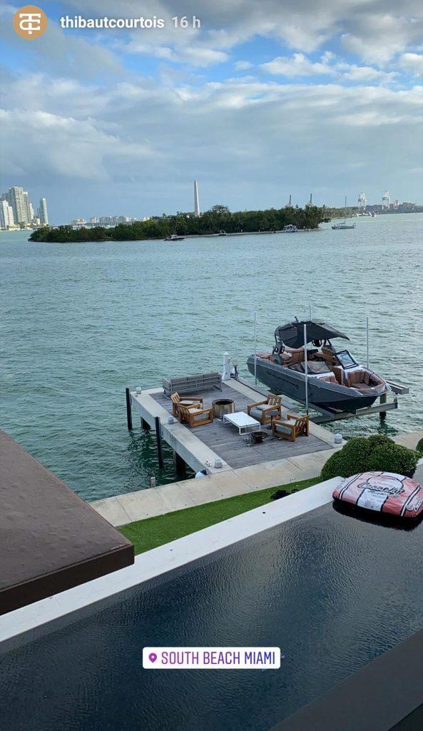 Courtois ha cruzado el charco y pasa la Navidad en Miami.
