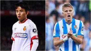 Kubo y Odegaard, con el Mallorca y la Real Sociedad.