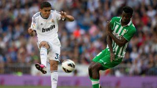 Casemiro, durante su debut. (AFP)