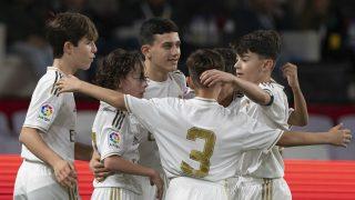 Reyes celebra un gol con sus compañeros (LaLiga).