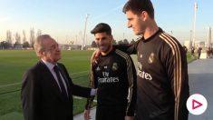 Florentino Pérez felicita el año a los jugadores. (realmadrid.com)