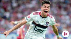 Reinier, en un partido con el Flamengo. (Instagram)