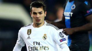 Brahim, en un encuentro del Real Madrid (Getty).