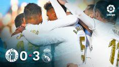 El Real Madrid venció al Getafe en el Coliseum.