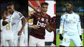 Rodrygo, Reinier y Vinicius, tres jóvenes perlas de Brasil.