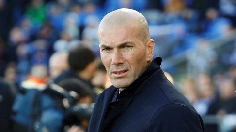 Zidane, durante un partido de esta temporada. (EFE)