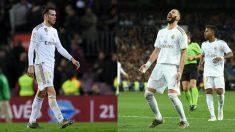 Gareth Bale y Karim Benzema. (Getty)