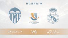 Liga Santander: Valencia – Real Madrid| Horario del partido de fútbol de la Supercopa de España.