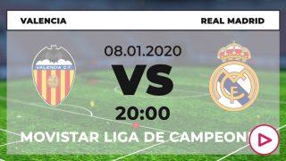 Supercopa de España: Valencia – Real Madrid | Horario del partido de fútbol de Supercopa de España.