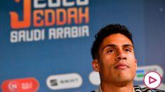 Varane, en rueda de prensa. (AFP)