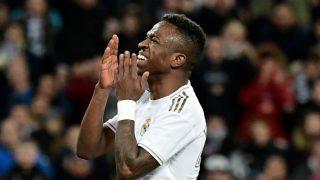 Vinicius, durante un partido esta temporada (AFP).