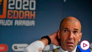 Zidane, durante una rueda de prensa. (AFP)