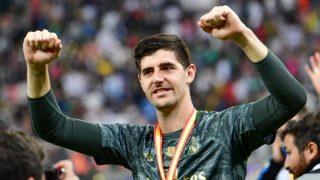 Courtois celebra la Supercopa de España. (AFP)