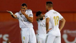 Karim Benzema y Luka Jovic durante un partido del Real Madrid. (AFP)