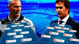 Real Madrid y Sevilla se enfrentan en el Bernabéu.