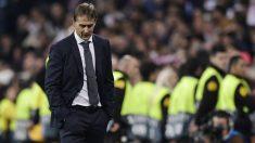 Lopetegui, durante un partido cuando era entrenador del Real Madrid. (AFP)