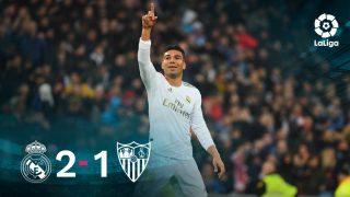 Casemiro dio la victoria al Real Madrid.